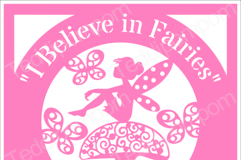 Girl Svg Cutting File I Believe In Fairies Svg Frame Disney