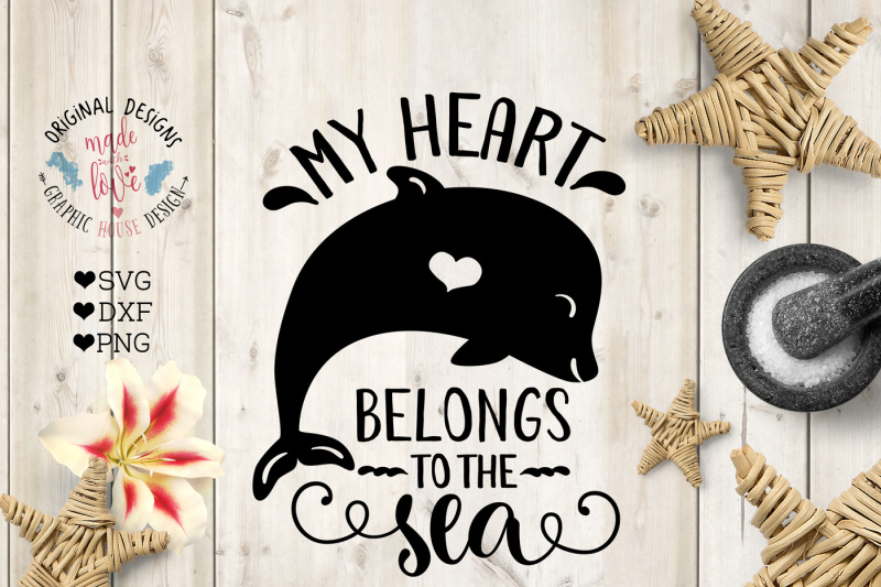 Download Free My Heart Belongs To The Sea Cutting File Crafter File