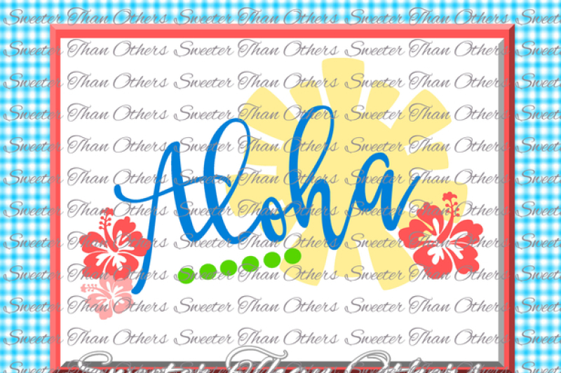 Free Aloha Svg Beach Bound svg, Summer Beach pattern, Dxf