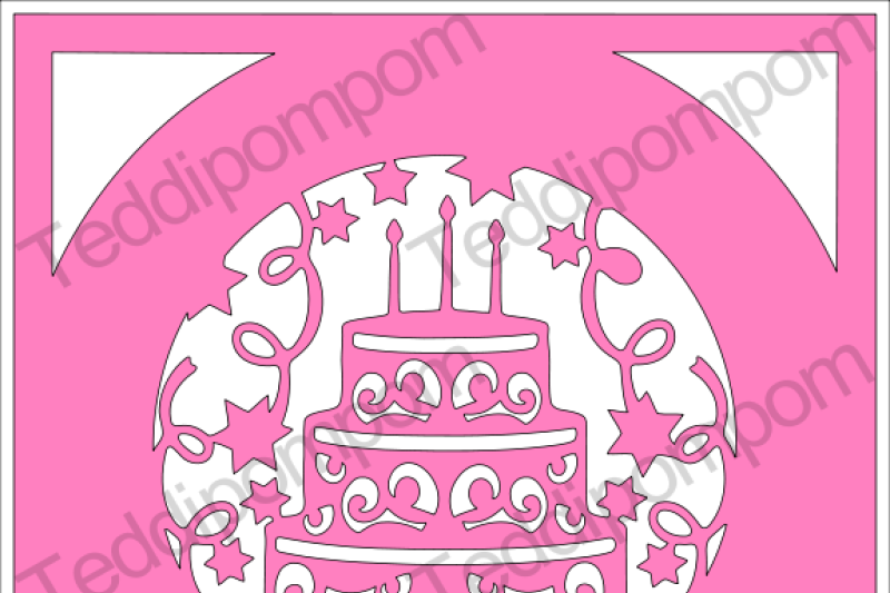 Free Happy Birthday Cake Frame SVG Crafter File