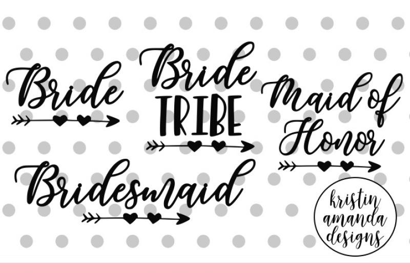 Bride Wedding Bundle Svg Dxf Eps Png Cut File Cricut