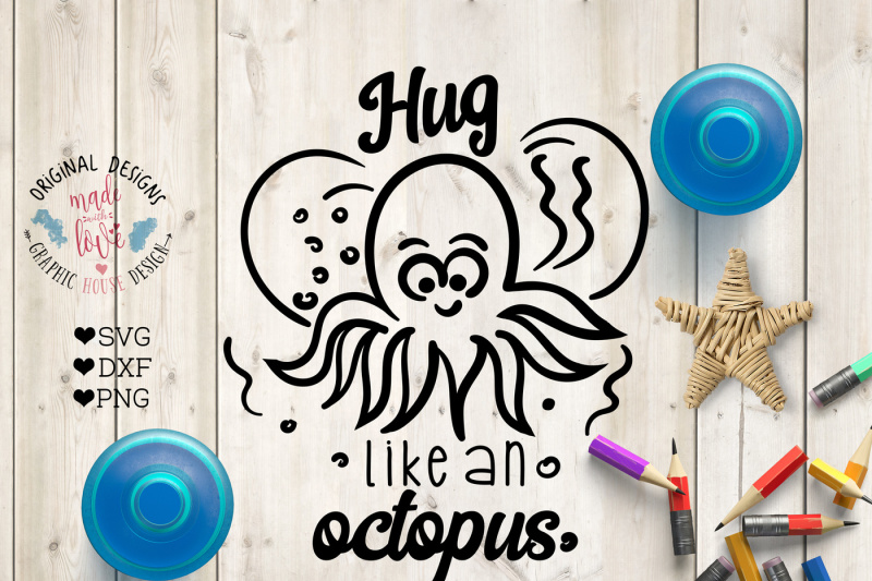 Free Hug Like An Octopus Cutting File Crafter File Download Free Commercial Use Svg Cut Files