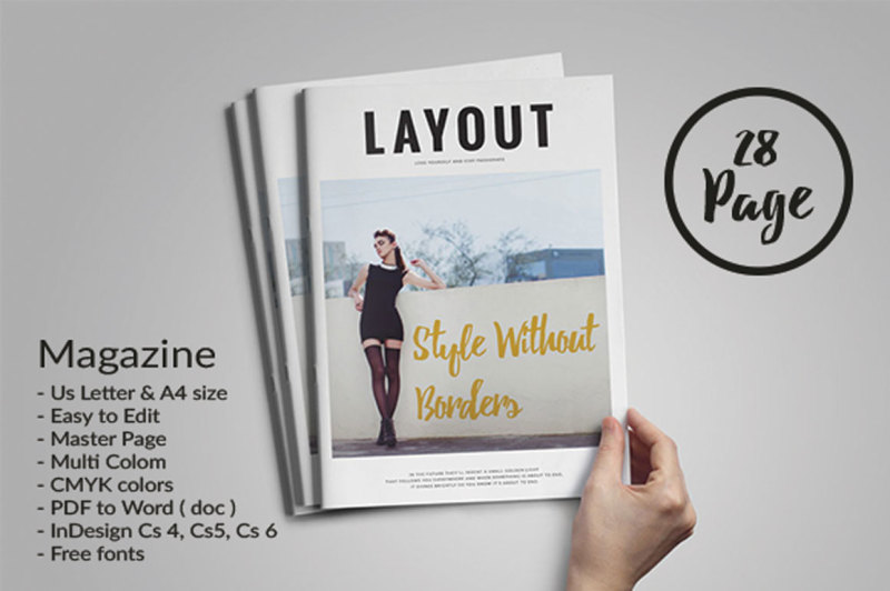 Indesign Magazine Template By Fahmie Rahman Thehungryjpeg Com