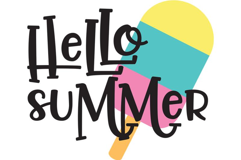 Hello Summer SVG By Cinnamon&Lime | TheHungryJPEG.com