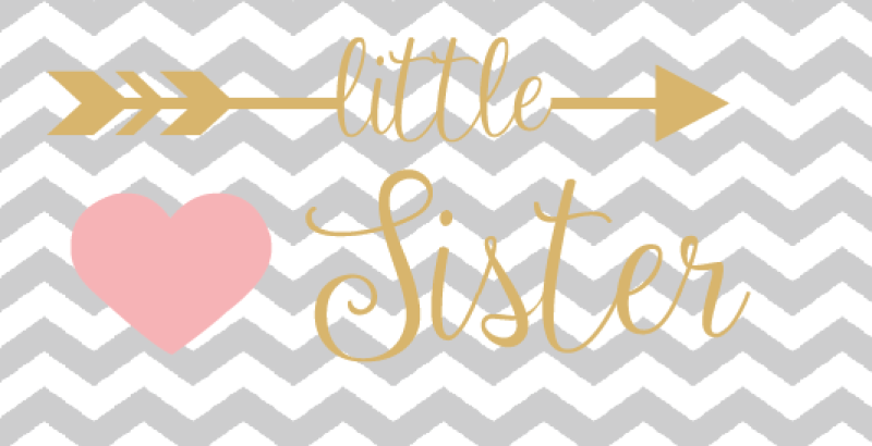 Little Sister Cutting File Svg Dxf Png By Flippyflops