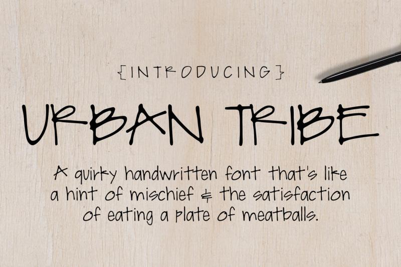 Urban Tribe Font By Robin Gates Thehungryjpeg Com