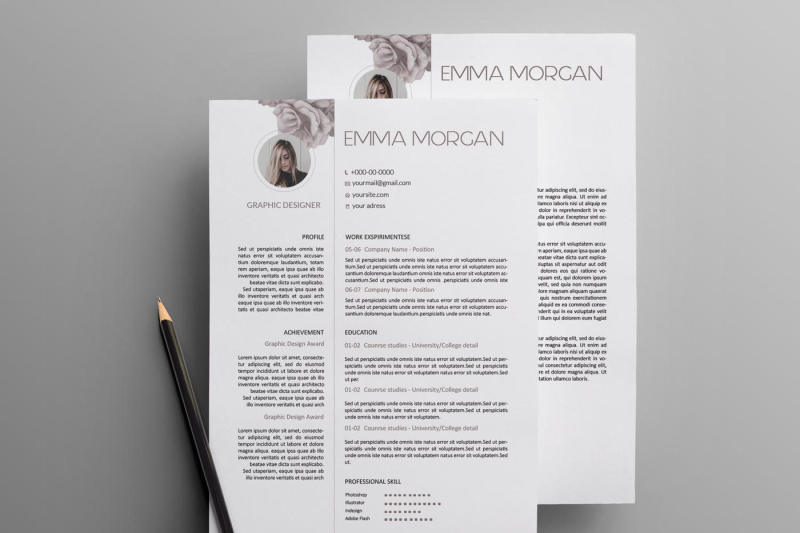 rose resume template    cv template    letterhead simple resume template    cv template