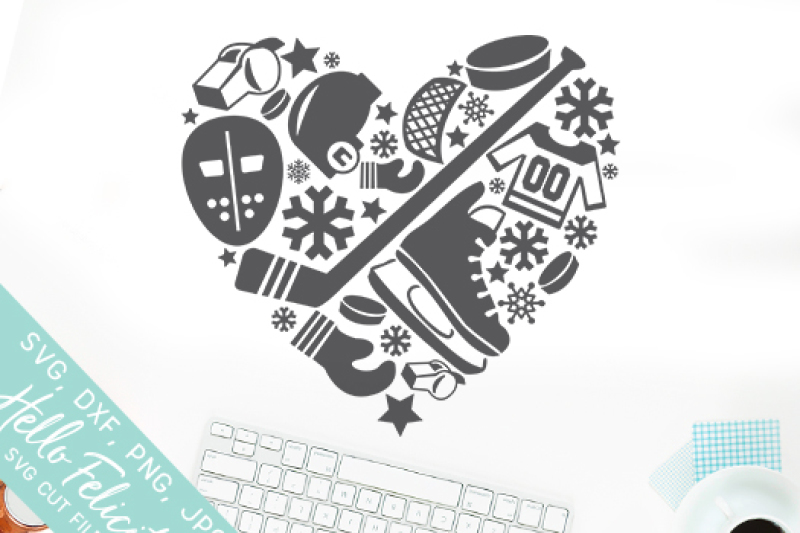 Hockey Heart Love Svg Cutting Files By Hello Felicity