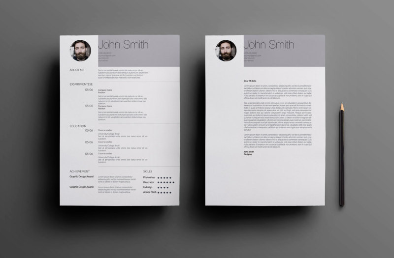 Simple Clean Resume Template CV Coverletter Letterhead