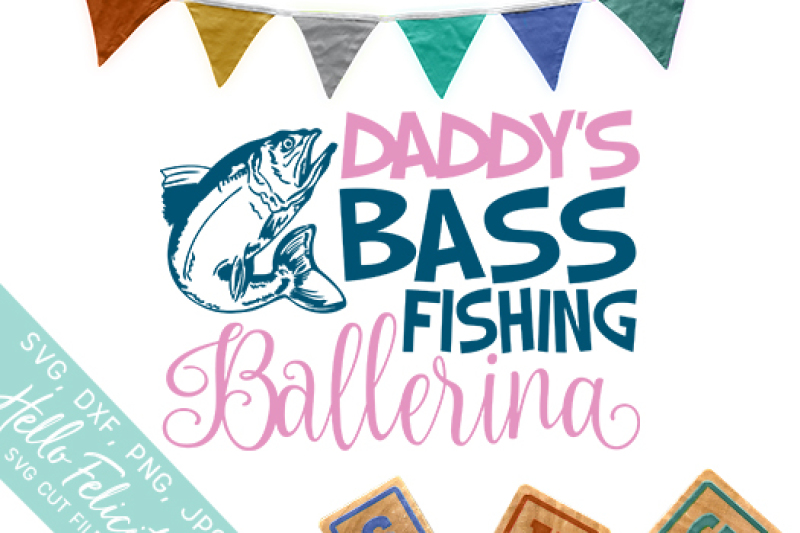 Bass Fishing Ballerina Svg Cutting Files By Hello Felicity