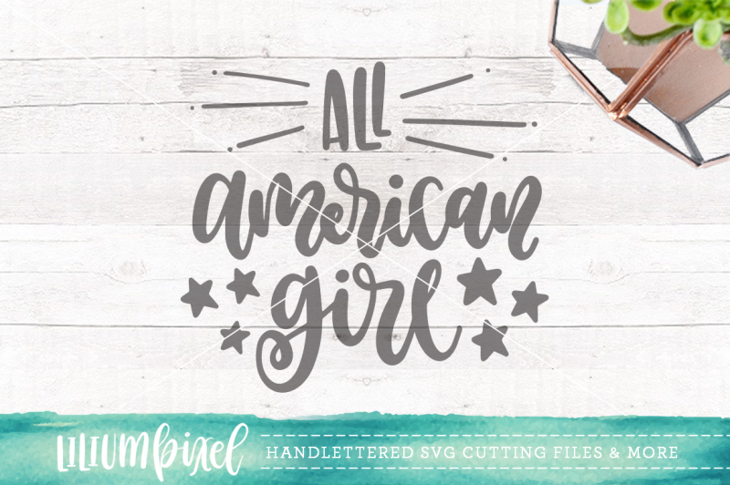 Download Free All American Girl  Svg Png Dxf Crafter File