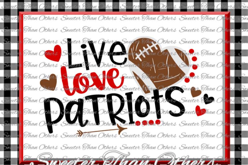 Football Svg Live Love Cardinals Football Svg Distressed Football