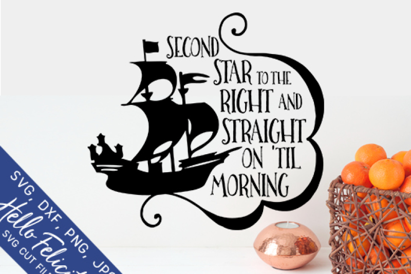 Peter Pan Second Star To The Right Svg Cutting Files By Hello