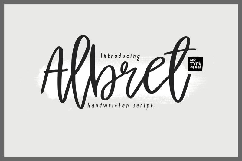 Albret Handwritten Script By Mr.Typeman   TheHungryJPEG.com
