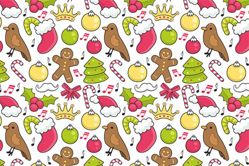 Christmas Pattern By Volyk Thehungryjpeg Com