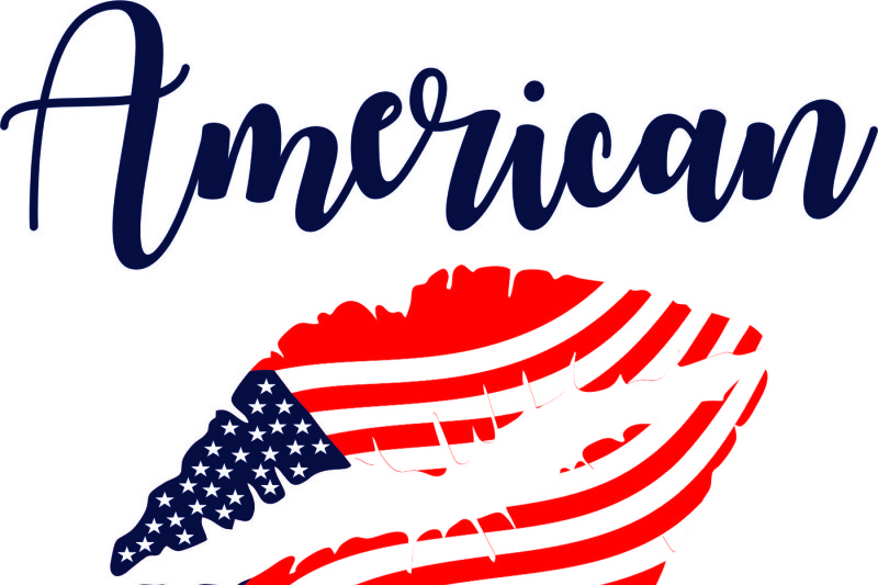 4th Of July American Girl Svg Dxf Eps And Jpg Files For Cutting