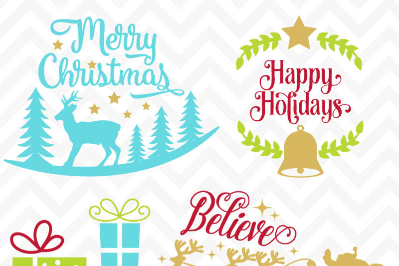 Christmas Quotes Svg.Svg Cuttables Merry Christmas Deer Santa Christmas Quotes