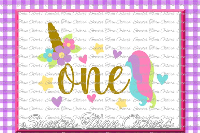 First Birthday Svg 1st Birthday Unicorn Svg Girl Dxf Silhouette