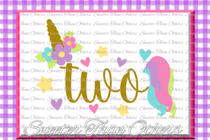 Second Birthday Svg 2nd Birthday Unicorn Svg Girl Dxf Silhouette