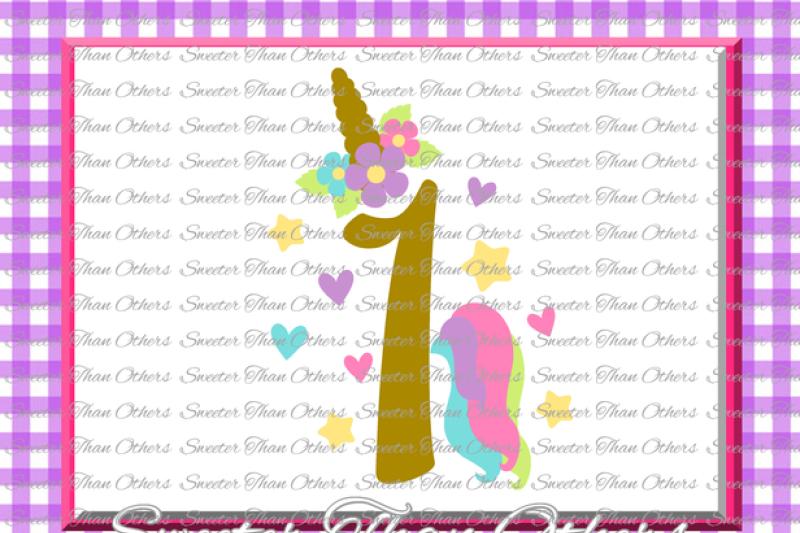 First Birthday Svg Birthday Unicorn Svg Girl Dxf Silhouette