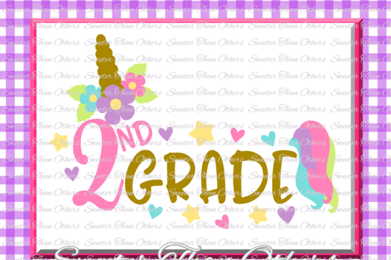 Back to school SVG second grade socuteappliques 1st day of school hello 2nd grade pencil svg 2nd Grade SVG 2nd grade svg