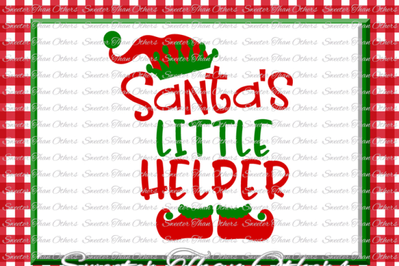 Santa S Little Helper Svg Silhouette Christmas Svg Dxf Silhouette Studios Cameo Cricut Cut File Instant Download Vinyl Design Htv Scal Mtc Design Free Cross Svg Cut Files