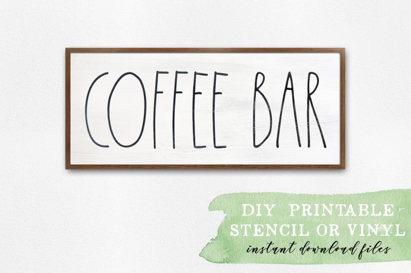 coffee bar farmhouse decor svg cut files crafter file