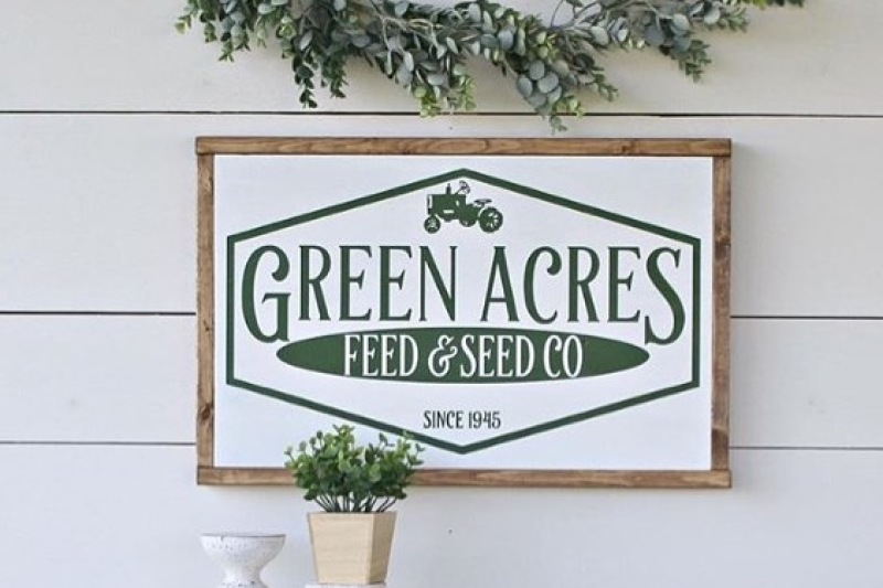 Green Acres Feed Seed Svg Scalable Vector Graphics Design Free Svg File Stock