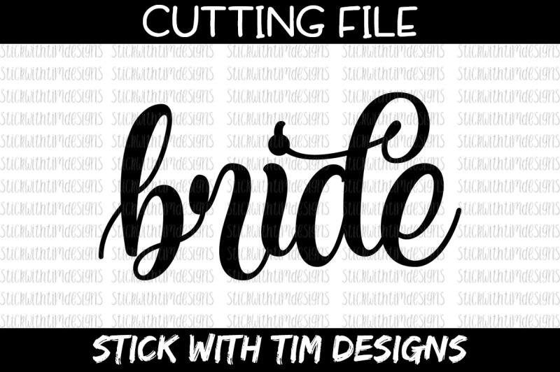 Free Bride SVG File - Cricut - Silhouette Crafter File - Free SVG