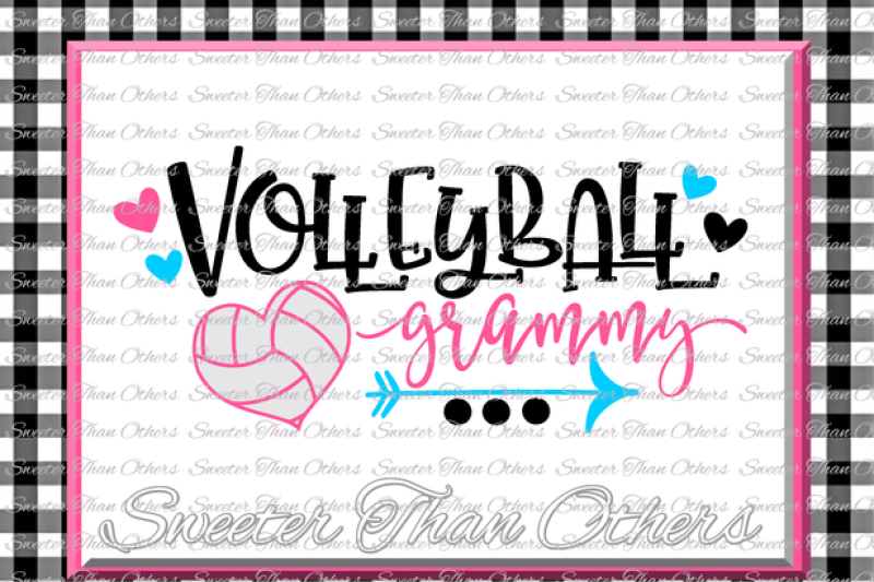 Volleyball Svg Volleyball Grammy Svg Design Vinyl Svg And Dxf