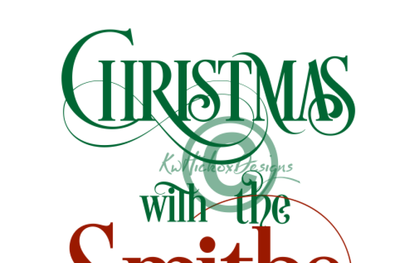 Merry Christmas From The Smith Family Svg Christmas Png File