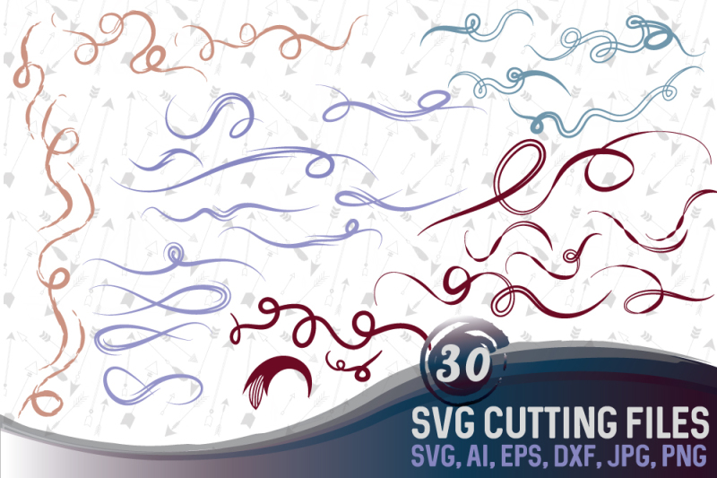 Download Free Vector Decorative Swirls & Flourishes Set Crafter File