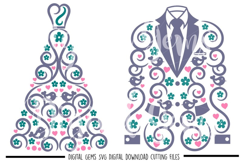 Free Wedding Dress And Suit Jacket Svg Dxf Png Eps Files Crafter File Free Home Icon Silhouette Whatsapp Logo Instagram Logo Facebook Logo