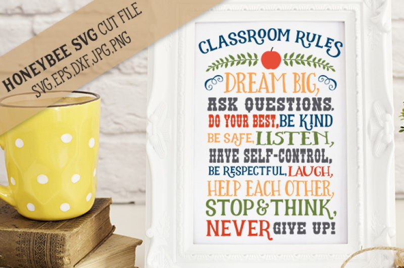 Download Free Classroom Rules Cut File With Printable Crafter File
