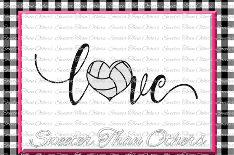 Volleyball Svg Love Volleyball Svg Design Vinyl Svg Dxf File