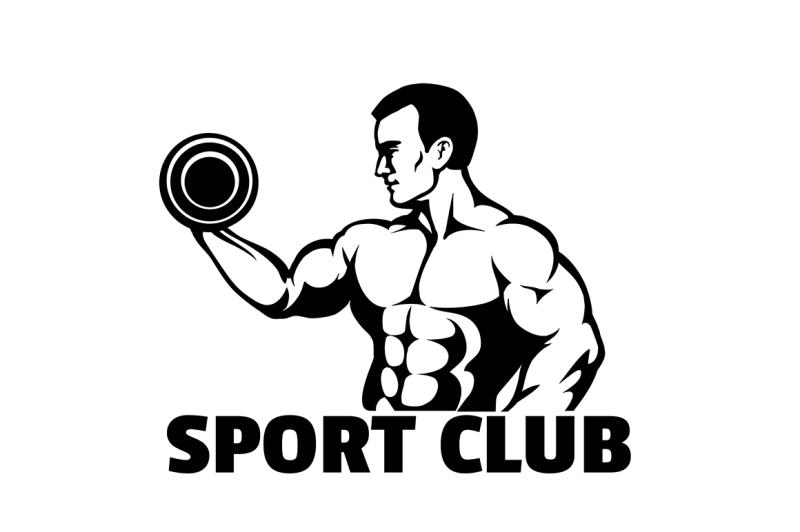 Bodybuilding Or Gym Emblem By Olena1983