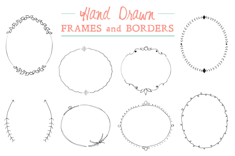 Download Free Elegant Hand Drawn Frames and Borders Crafter File ...