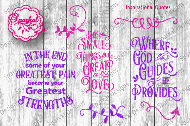 Svg Quotes Cutting Design Bundle By Sparkal Designs