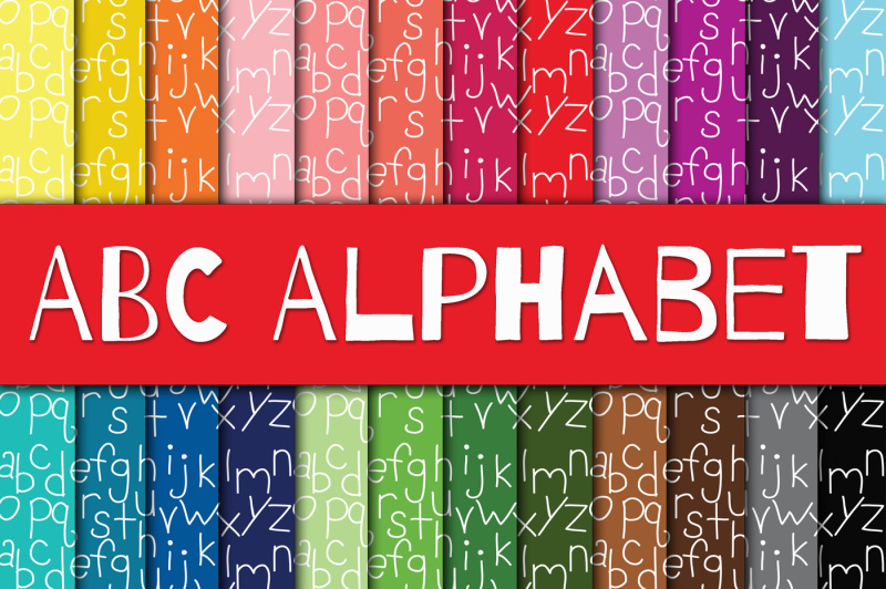 Download Free Abc Alphabet Digital Papers Crafter File
