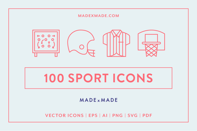 Line Icons Sport By Made By Made Thehungryjpeg Com