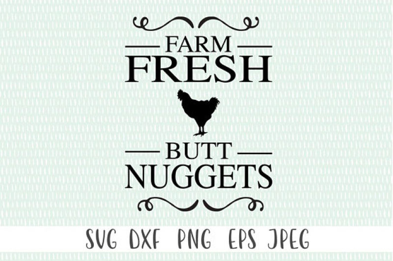 Free Farm Fresh Butt Nuggets Crafter File Free Svg Download Earring Template Download Free Svg Template