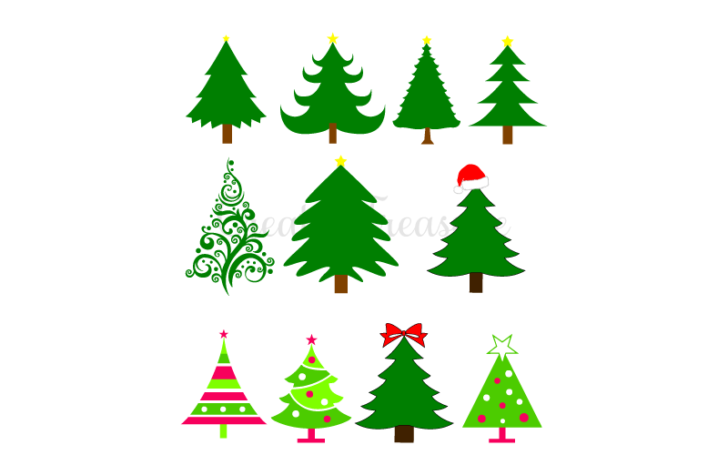 Christmas Tree Svg Free Download.Free Christmas Tree Svg Dxf Cutting Files For Silhouette