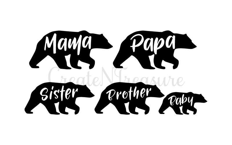 Mama Bear Svg Papa Bear Svg Cutting File For Cricut And Silhouette Cameo Svg Dxf Design Free Download Svg Files Rhinestones