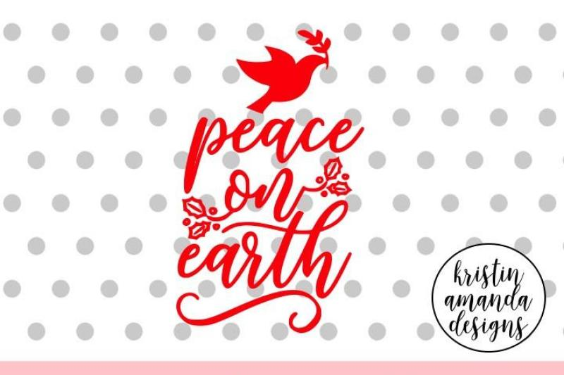 Peace On Earth Christmas Svg Dxf Eps Png Cut File Cricut Silhouette Scalable Vector Graphics Design Free And Premium Svg Png Ai Csh Vector Icon