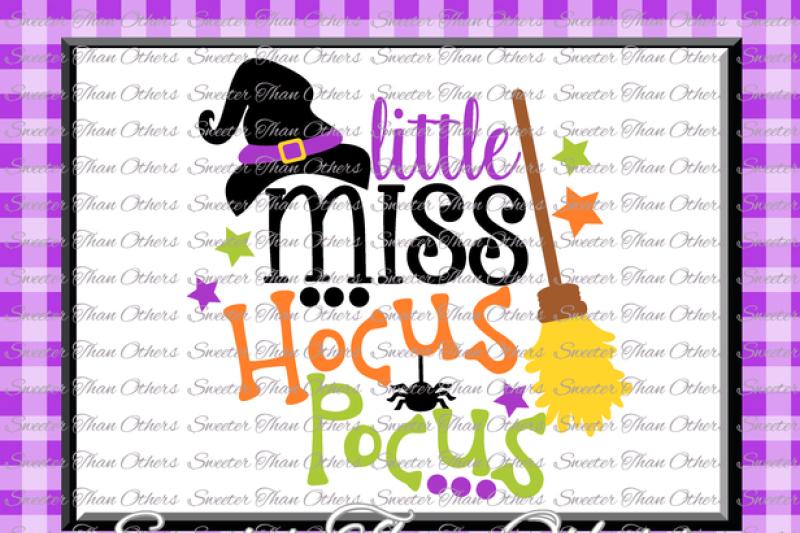Free Halloween svg, Little Miss Hocus Pocus svg, svg Dxf