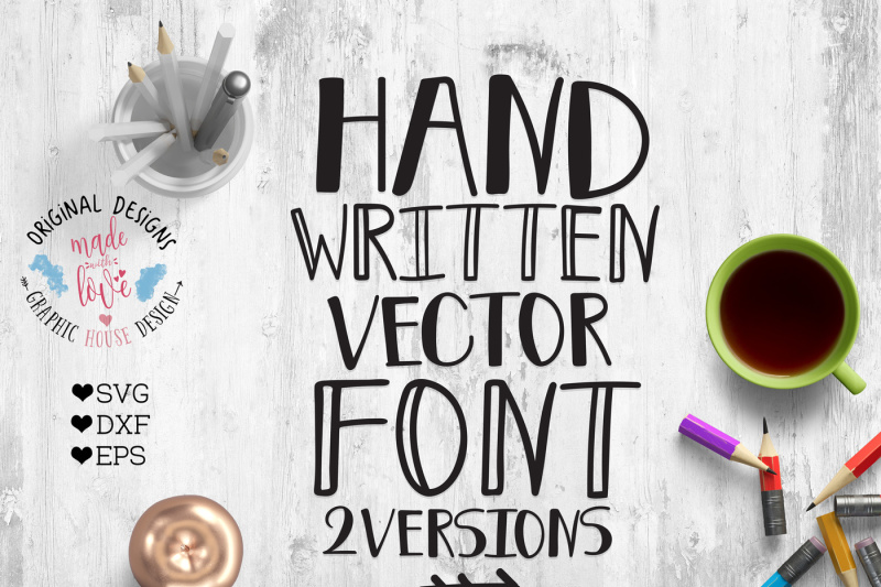 Free Handwritten Vector Font For Crafters Svg Dxf Eps Crafter File Digital Cut Files Etsy