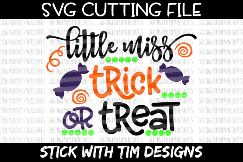 Halloween Trick Or Treat Silhouette.Little Miss Trick Or Treat Svg Cut File Cricut