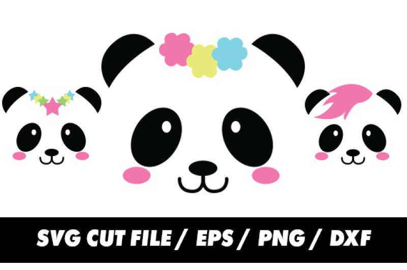 Panda Svg For Silhouette And Cricut By Freeling Design House