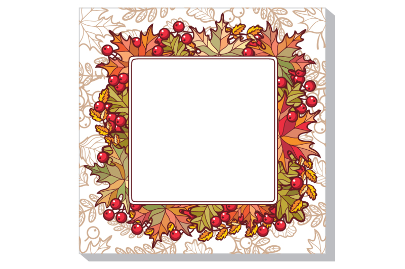 Free Autumn Frame Fall Deciduous Ornament Forrest Background Autumn Leaf Rowan Maple Birch Oak Svg Free Svg File Cricut And Silhouette