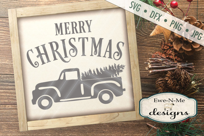 Christmas Tree Truck Svg Free.Old Antique Truck With Christmas Tree Svg Free Svg Files